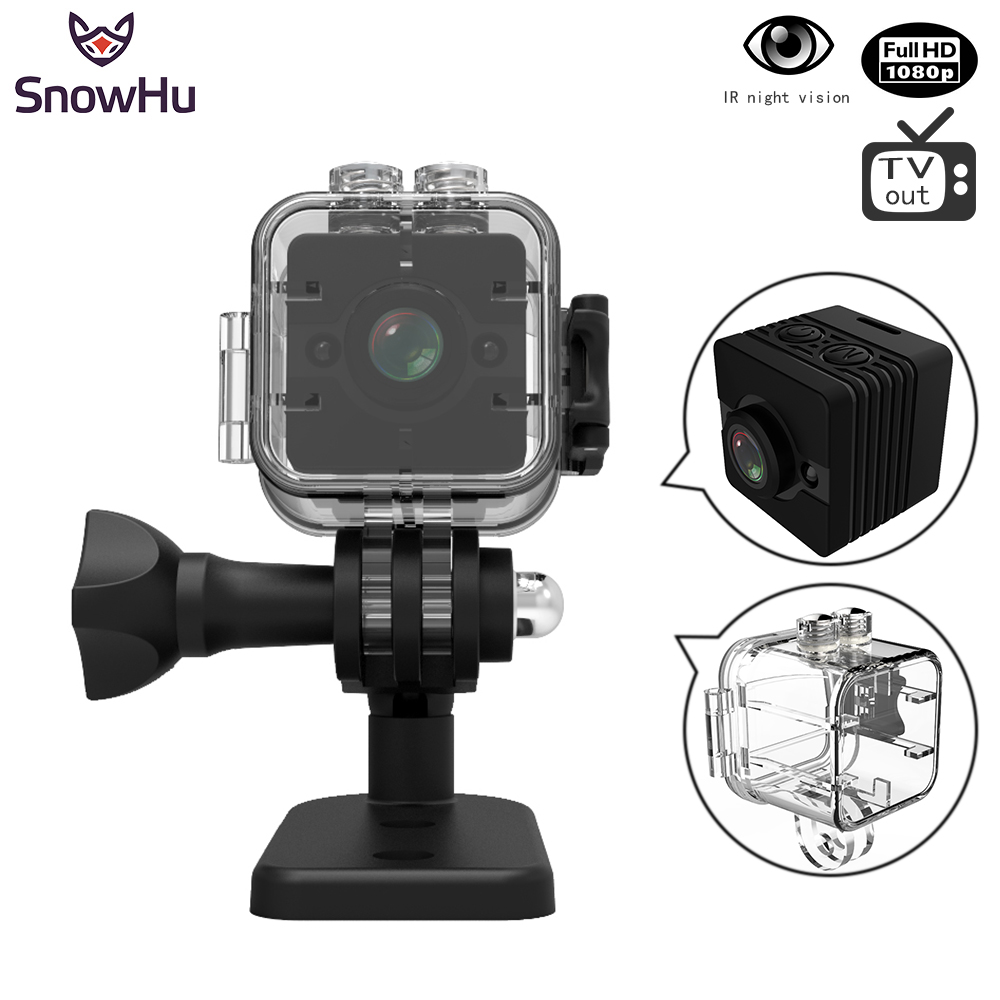 SnowHu SQ12 SQ11 HD 1080P Mini Camera Night Vision Camcorder Sport Outdoor Car DVR Infrared DV Video voice for Windows PK SQ8