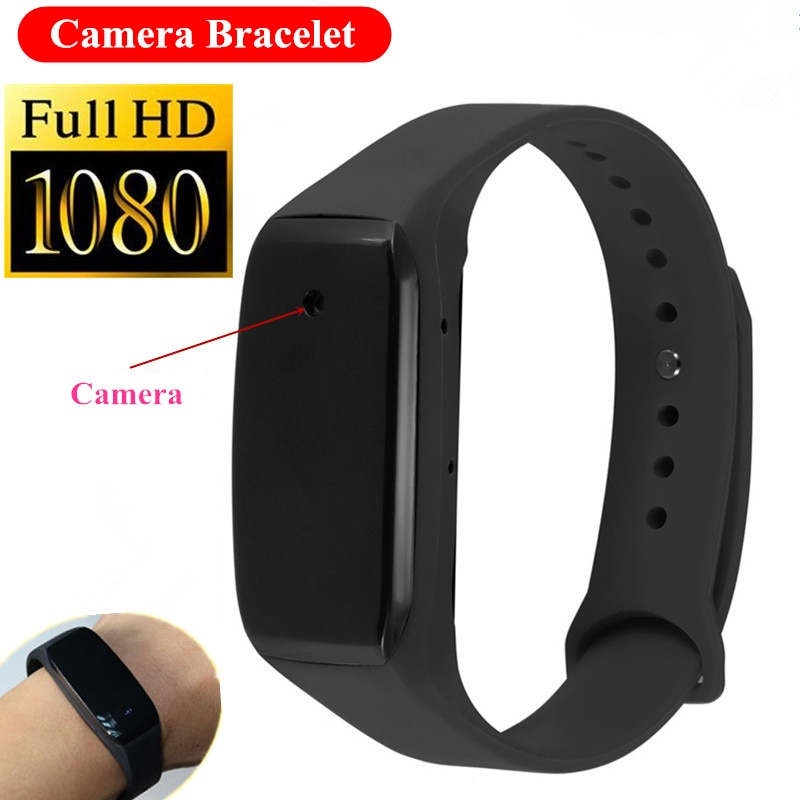 TM18 Mini Camera Bracelet HD 1080P 14.2 Million Pixels Lens Mini Camcorder Kamera Wristband Wearable Device Smart Band Micro Cam