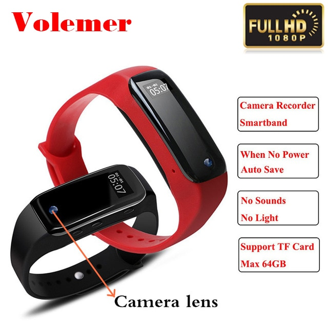 Volemer Camera Voice Recorder Bluetooth Smart Band Monitor Smart band Bracelet Android IOS Activity Tracker