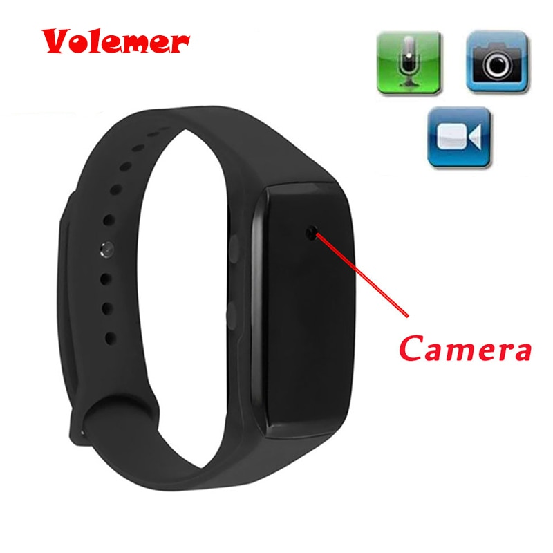 Volemer Easy Carry Bracelet Camera HD 1080P Life Video Recorder Wristband Mini Camcorders Support Micro SD Max 32GB Watch Camera