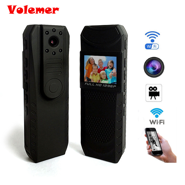 Volemer FUll HD 1296P bodyworn pen camera recorder with Night Vision mini Camera wifi WiFi Portable Mini Camcorder