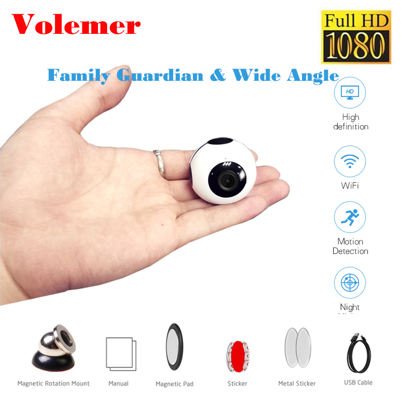 Volemer Mini Wifi Camera 720P Night Version P2P Action Camera with motion Sensor Digital Camcorder Remote Control Flexible Cam