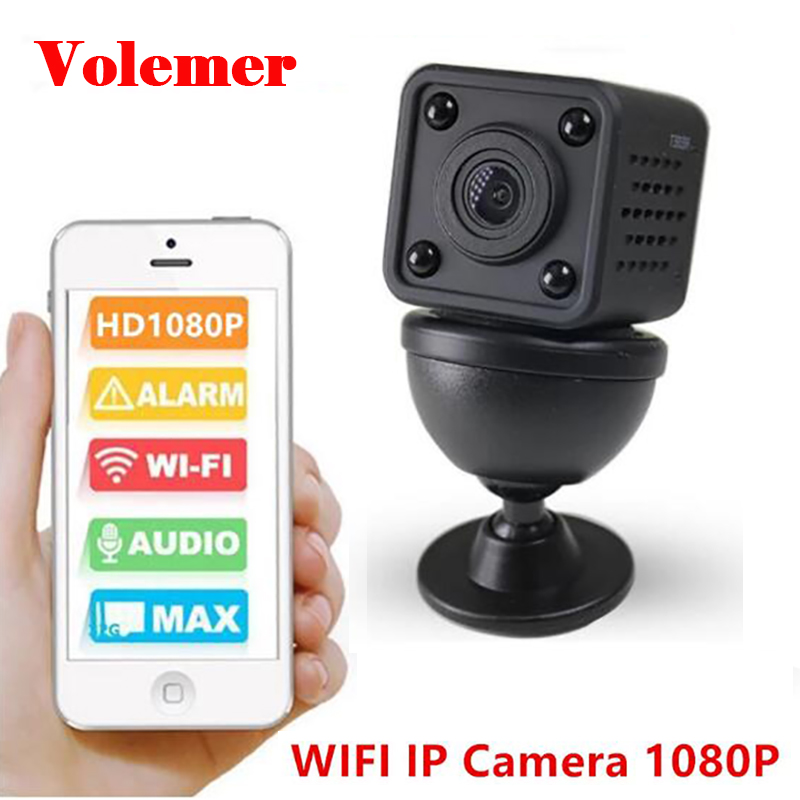 Volemer WIFI Mini IP Camera Full HD 1080P Infrared Night Version Motion Sensor DV Camcorder Digital Camera Mini DVR Flexible Cam