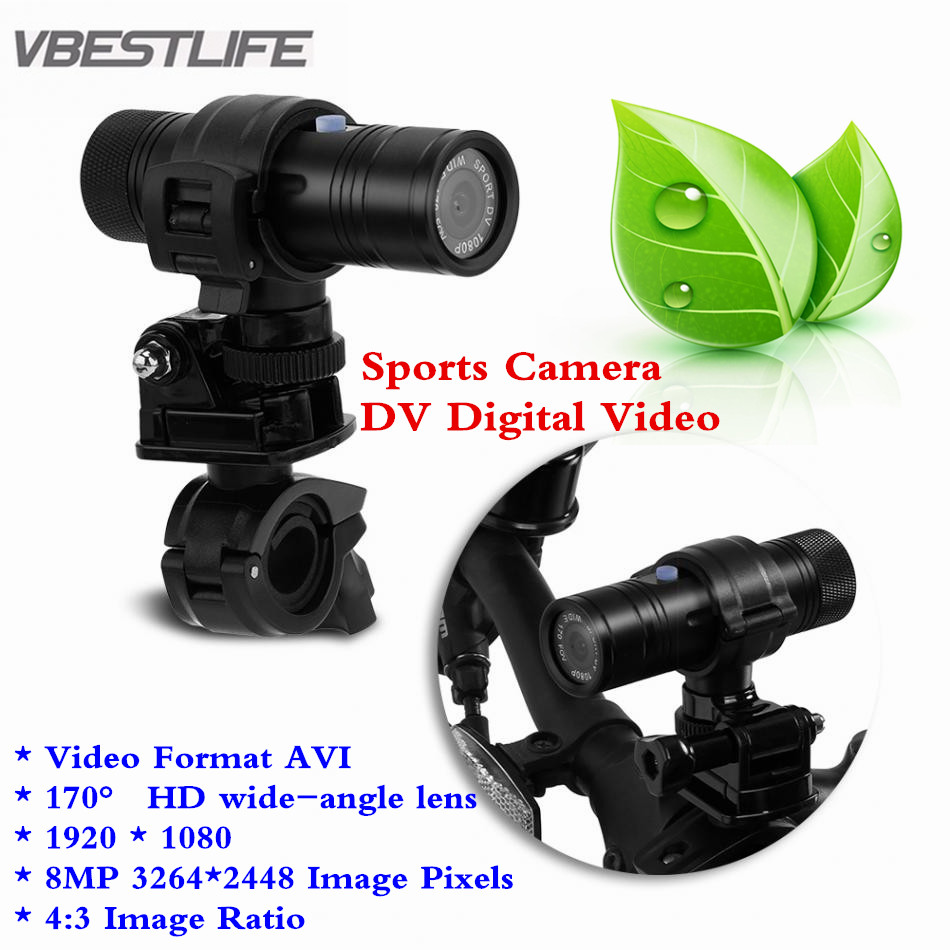Waterproof 8MP 1080P 170 Degree Lens HD Outdoor Sports Camera DV Digital Video Diving DV Bike Motorcycle Action Video Cameras