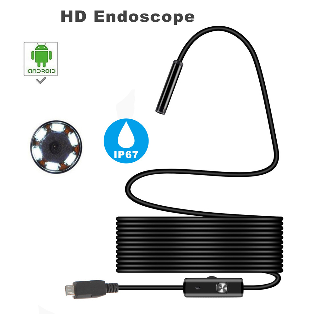 Wireless Waterproof USB Port Endoscope 7mm/8mm/5.5mm Visual Lens Mini Camera Wifi Portable Inspection Cam for Android Phone