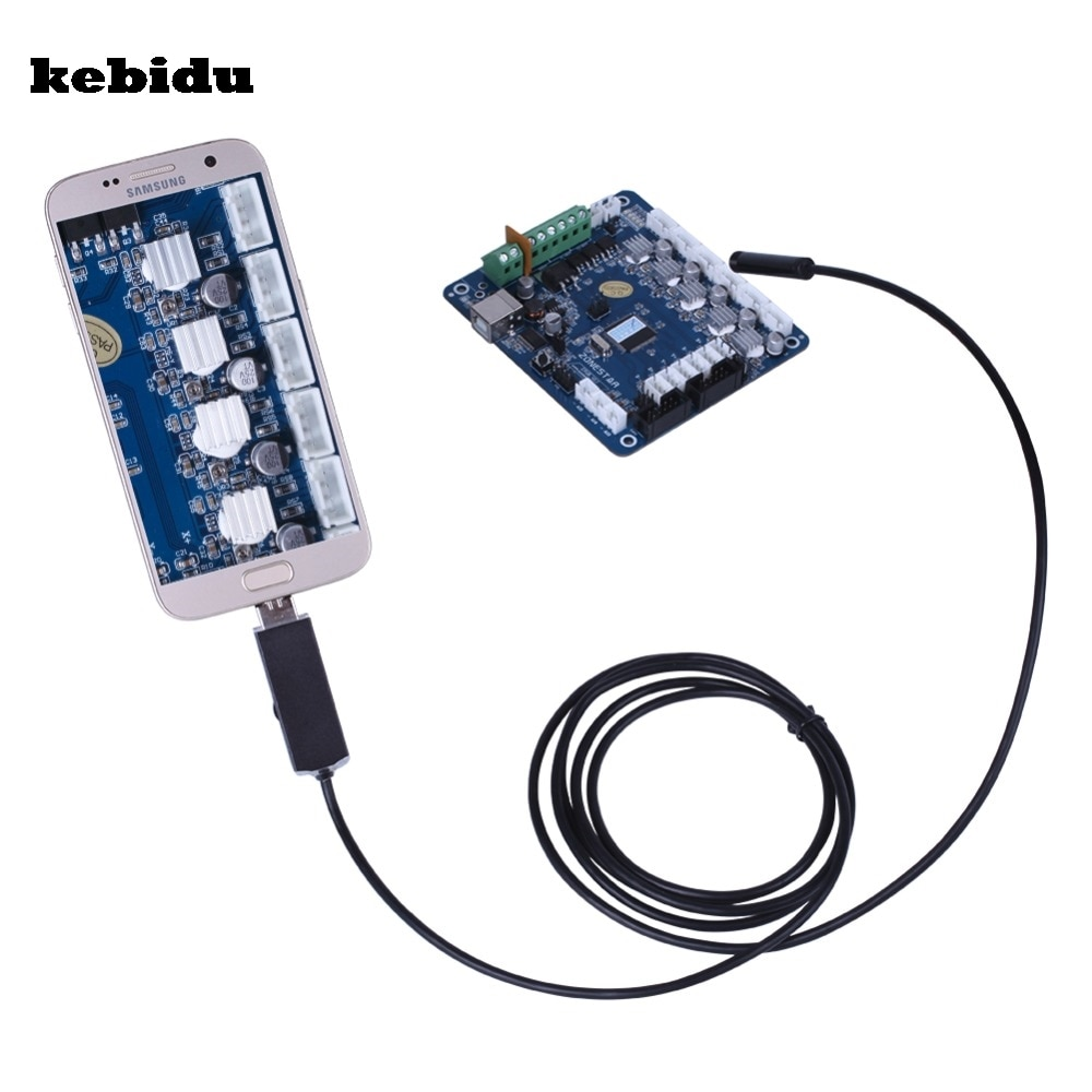 kebidu 5.5mm Lens USB Endoscope IP67 Waterproof Camera 2 In 1 Endoscope 6 LED Mini Snake Camera Android OTG Phone Endoscopio
